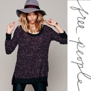 Free People Jeepster Honeycomb Sweater Purple L